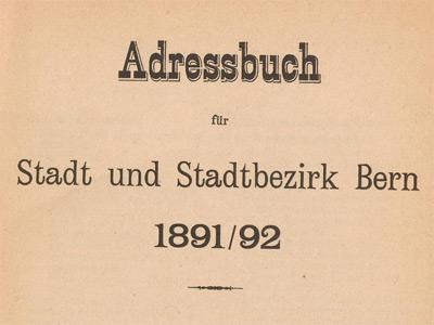 Adressbuch der Stadt Bern