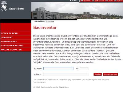 Bauinventar der Stadt Bern