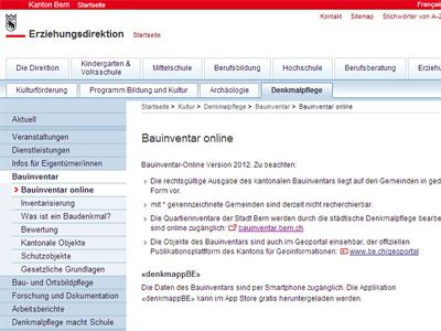Bauinventar des Kantons Bern