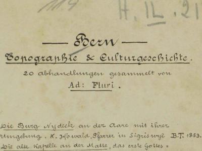 Bern – Topographie & Culturgeschichte