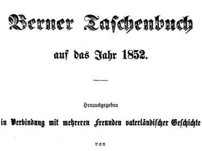 Berner Taschenbuch & Neues Berner Taschenbuch