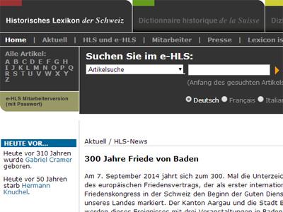 Bernische Persönlichkeiten und Ortschaften im HLS