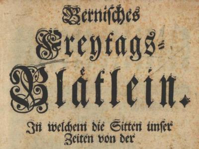 Bernisches Freytags-Blätlein