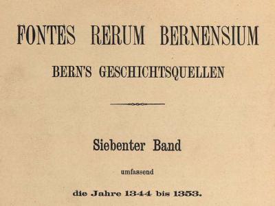 Fontes Rerum Bernensium