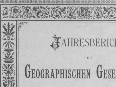 Jahresberichte der Geographischen Gesellschaft Bern