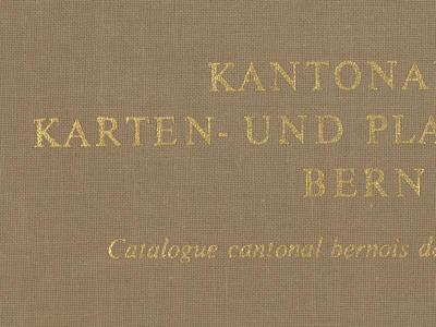 Kantonaler Karten- und Plankatalog Bern | Catalogue cantonal bernois de cartes et plans