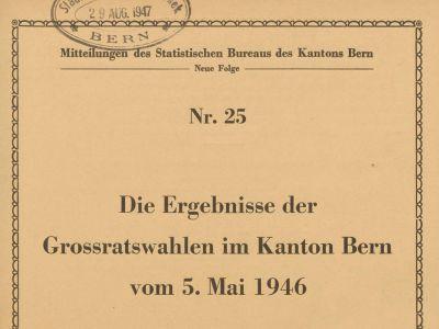 Mitteilungen des Statistischen Bureaus des Kantons Bern