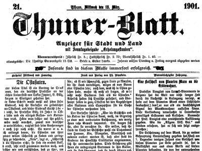 Thuner Zeitungen