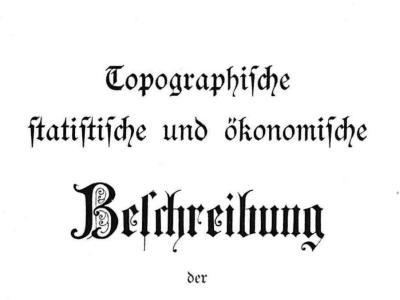 Topographische Beschreibungen der Oekonomischen Gesellschaft Bern