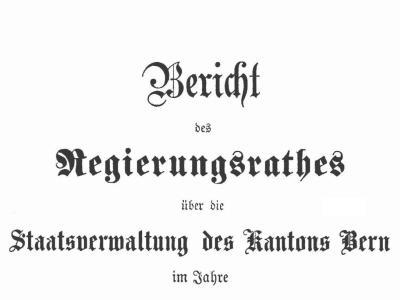 Verwaltungsbericht des Regierungsrates, der kantonalen Verwaltung und der Gerichtsbehörden für das Jahr ...